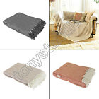 100% COTTON HERRINGBONE SOFA BED SETTEE THROW COVER CHAIR BEDSPREAD BLANKET