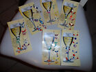 Hand crafted set of 6 wine glass marker charms- 17 varieties