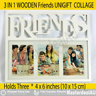 3 In1 Photo Frame Wood Wall Collage FRIENDS Black White Brand NEW Gift Idea HOT