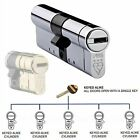 Avocet ABS Keyed Alike Euro Cylinder UPVC Door Lock Anti Snap 3 Star TS007