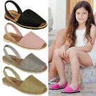 New Childrens Kids Summer Sandals Flat Menorcan Beach Holiday Flip Flop Size