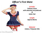Navy Officer's First Mate Sea Girl Ladies Fancy Dress Costumes Outfit Nautical