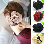 Girl Women Lady Cute Flower Hairdresses Solid Hair Clips Claw Clamps Headpiece