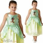 Girl's Disney Tiana Princess & The Frog Book Week Fancy Dress Costume Outfit