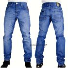 Mens Peviani designer blue star denim jeans, urban hip hop g straight fit, midis
