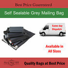 New GREY PLASTIC POSTAGE PARCEL / MAILING BAGS - Virgin Plastic - Super Strong