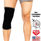 Neoprene Knee Sleeve Brace Compression Support Relief Pain Closed Patella US 12