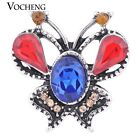 Snap Charms Vocheng 4 Colors Crystal Endearing Butterfly Jewelry Vn-1149