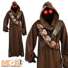 Jawa Star Wars Men's Fancy Dress Adult Halloween Costume Outfit + Light Up Eyes