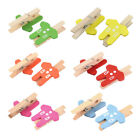Card Photo Decoration Clothes Shape Craft Mini Wooden Clip Peg 100pcs
