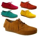 New Women's Lace Up Fringe Moccasins w/ Stitched Lining Oxford 5 Colors  6.5-10