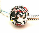 925 Sterling Silver Minnie Mania Mouse Fit European Bead Charm Bracelet
