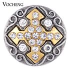 20PCS/Lot Snap Charms Wholesale Vocheng Gold Button Vintage Jewelry Vn-1133*20