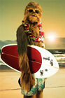 Q0834 Star Wars Chewie Surfing Gear Comics Poster Affordable Canvas Prints