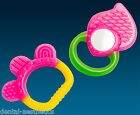 Babys First Teether & Rattle Set ~ Pink Teething Ring Gift Girls Stocking Filler