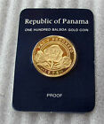 PANAMA GOLD COIN 100 BALBOA PROOF, PEACE IN PROGRESS LOW MINTAGE 1978