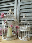 Vintage Style Bird Cage Antique White Shabby Wedding Decoration Card Post Box