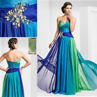 Multi Colors Sleeveless Long Evening Dress Prom Dress Formal Gowns Custom Make