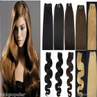 "18""20""100% Remy Human Hair Weft Weave Extensions Straight 100g grade 7a weaving"