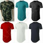 NEW Men's Basic Hip Hop Style Long T-Shirt with Side Zipper S: 4XL 100% COTTON image