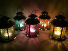 SECONDS Moroccan / Indian Style Glass & Metal Candle Lantern Tea Light Holder