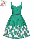 LINDY BOP 50's BERNICE TURQUOISE TULIP prom party DRESS