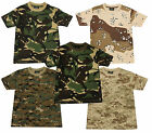 Boys Army Camo Pixel Camouflage Combat Crew Neck T-Shirt 2 to 8 Years