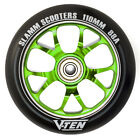 Slamm Scooter V Ten 10 Alloy Wheel 110mm green blue v spoke