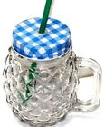 Vintage Drinking Mason Glass Jar With Handle Lid Straw Space Party Mug Cup 18 Oz
