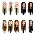 New 100%-30% Real Human Long Hair Practice Mannequin Hairdressing Training+Clamp