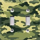 Camouflage Camo~Light Switch Cover~Kids Room Decor~Choose Your Plate~