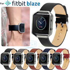 Luxury Leather Wrist Strap Band Bracelet Clips For Fitbit Blaze Smart Watch New