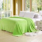 Newly Comfy Flannel Nap Blanket Bedding Throw Bed Sheet Single Double Queen Size