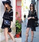 ZARA STUDIO BLACK EMBROIDERED BOHO TUNIC DRESS SIZE SMALL RRP£69.99 REF 6895 051