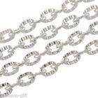 Gift Wholesale Silver Plated Textured Cable Link Chain 3x2mm