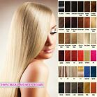 """Clip in Hair Extensions Real Human Hair Extensions 6 pcs 30gr 20"""" 15"""" Straight"""