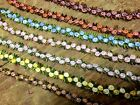 """VINTAGE Embroidered 3/8"""" cotton ROSETTE TRIM Made in Czechoslovakia 1 yd"""