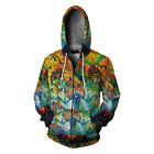 DMT magic mushroom psychedelic collection  Men's Zipper Hoodie