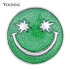 20PCS/Lot Vocheng 3 Colors Hand Painted 18mm Smiling Face Snap Charm Vn-1020*20