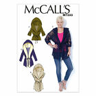 McCalls 7333 Very Easy Hooded Jacket Vest XS - Plus Size Sewing Pattern M7333