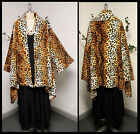 Plus size Leopard Print Asymmetrical Velboa Warm (Velvet)Swing Jacket Coat.