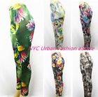New Women Summer Flower Pattern Stretchy Summer Leggings/Tight(U.S Seller)#80122
