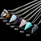 1Pc Fashion Crystal Hexagonal Prism Pendant Necklace Women Jewelry Decoration