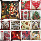 "Christmas Festive Xmas Tapestry Style Cushion Covers, 17"" x 17"", Multi Listing"