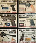 GUN/FIREARMS NOVELTY MAGNET `GUNS DON`T KILL PEOPLE` DESERT EAGLE, FN, + MORE $10.55 CAD