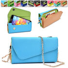 amazon xperia z case - Womens PU Leather Wallet Case Cover & Crossbody Clutch for Smart-Phones MLUB24