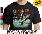 Swamp People Choot Em Alligator Hunting Troy New Cotton T-Shirt W/Free Shipping