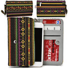 KroO ESPS-17 MD Aztec Patterned Protective Wallet Case Cover for Smart-Phones