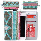 KroO ESPS-22 MD Aztec Patterned Protective Wallet Case Cover for Smart-Phones