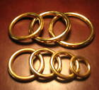 Solid BRASS RINGS Seamless Old World Charm Choose from 10 Ring Sizes